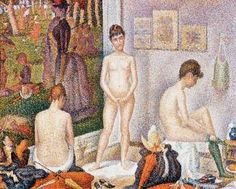 Georges Seurat's The Models (oil on canvas, 78-3/4x 98-3/8 Merion Station, Pennsylvania.