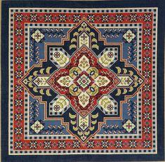 Size: 16 x 16 Cross Stitch Flowers, Cross Stitch Patterns, Cross Stitches, Cross Stitch Cushion, Needlepoint Pillows, Art N Craft, Hand Painted Canvas, Square Patterns, Chiffon