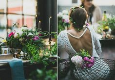 Urban woodland wedding sittinginatree