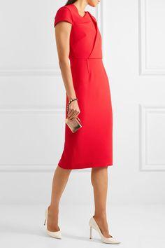 Red wool-crepe Zip fastening through back 100% wool; lining: 93% silk, 7% elastane Dry clean Made in the UK