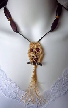 Owl Macrame Necklace