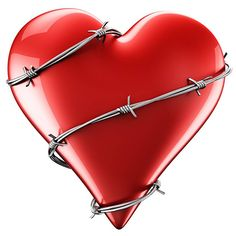 This barbed heart might be protecting a heart that's loyal and true.