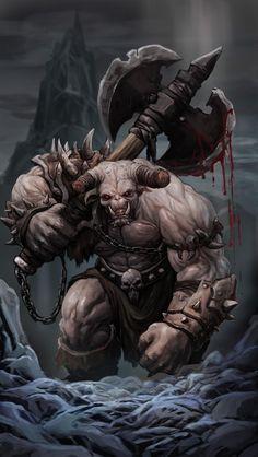 ogre by ponikstudios on DeviantArt Monster Concept Art, Fantasy Monster, Monster Art, Fantasy Warrior, Fantasy Races, Mythological Creatures, Fantasy Creatures, Mythical Creatures, Fantasy Kunst
