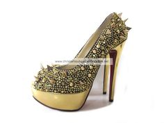 Christian Louboutin Very Mix Peep Toe Pumps In Golden