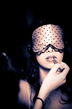"Pink Boudoir Sleep mask  ""Bernadette""- as featured on The Lingerie Journal. €26,00, via Etsy."