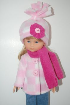 Doll Clothes  Corolle 13 Les Cheries   Pink Jacket Hat and by TKCT, $14.99