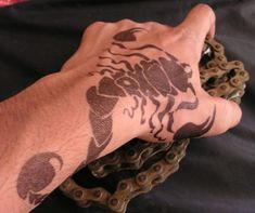 What we know about the scorpion tattoo? The primary and significant fact is that scorpion tattoos are the emblem of power and visible determination. Animal Tattoos For Men, Tattoos For Women, Small Tattoo Designs, Small Tattoos, Enough Tattoo, Tattoo 2015, Special Tattoos, King Tattoos, Hand Tats