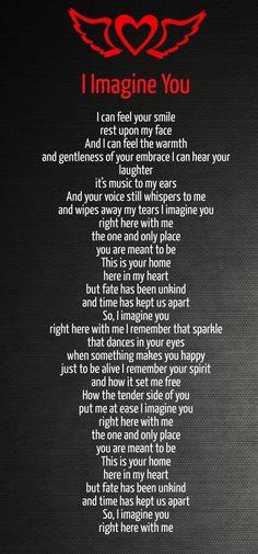 Recuerdo que la chispa que baila en sus ojos cuando algo te hace feliz de estar vivo Recuerdo su espíritu y la forma en que me libere Cómo el lado tierno de ustedes me tranquilizó Te imagino aquí conmigo el único lugar que está destinado a ser Esta es su casa aquí en mi corazón , pero no tuvieron demasiada fortuna y el tiempo nos ha mantenido separados Por lo tanto, te imagino aquí conmigo