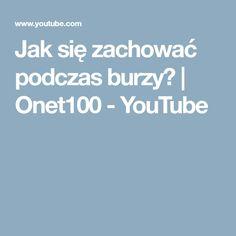 Jak się zachować podczas burzy?   Onet100 - YouTube Youtube, Nature, Naturaleza, Nature Illustration, Off Grid, Youtubers, Youtube Movies, Natural