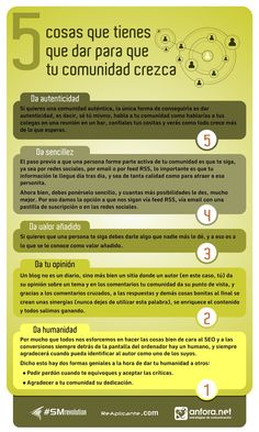#Infografía: 5 cosas que hacer para que tu comunidad crezca. vía @SM Revolution #SMrevolution