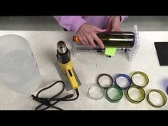 How to cut glass bottle rings - Creator's bottle cutter - YouTube