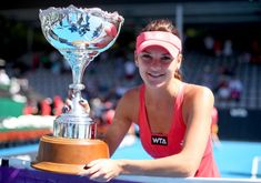 Agnieszka Radwanska of Poland holds the trophy following the final against Yanina Wickmayer of Belgium during day six of the 2013 ASB Classic at ASB Arena on January 5, 2013 in Auckland, New Zealand