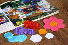 Szilvi foltvarró blogja: Nagymama virágoskertje női táska