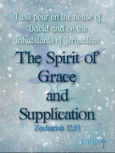 """Zechariah 12:10 """"And I will pour on the house of David and on the inhabitants of Jerusalem the Spirit of grace and supplication; then they will look on Me whom they pierced. Yes, they will mourn for Him as one mourns for his only son, and grieve for Him as one grieves for a firstborn."""