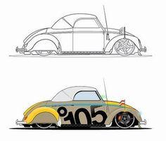 Beatle Car Vector