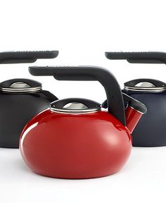 KitchenAid Tea Kettle, 2 Qt. Porcelain Enamel on Steel Curling - Cookware - Kitchen - Macy's