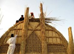 Sumerian reed house southern #Iraq