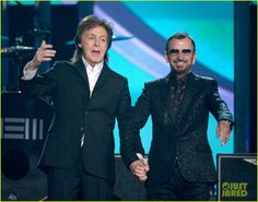 grammy 2014 paul and ringo | & Ringo Starr Reunite at Grammys 2014 (Video) | 2014 Grammys, Paul ...
