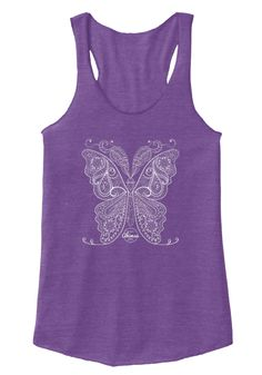 Flutter by with the perfect shirt for the yogini who loves butterflies!The Infinite Ahimsa brand was created as a reminder, that in order to  have Love & Compassion for the world, you must first love yourself.  We recognize you as a Whole Person who must be balanced in Mind, Body  & Spirit in order to realize your full potential.