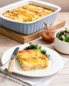 With a golden brown potato crust and a creamy leek and ham inner this bake is an easy one dish dinner that is great value - and tastes great too.