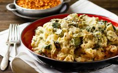 <p>This cauliflower Alfredo is comfort food bliss. Rich, creamy, and full of flavor, it's like a sophisticated mac and cheese. </p>