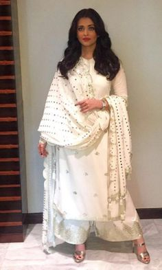 #AishwaryaRai looking stunning in designer outfit by #SukritiAndAakriti for press interview in Delhi for #Sarbjit!