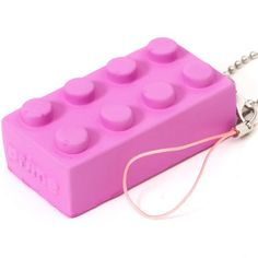 funny pink squishie lego brick phone strap