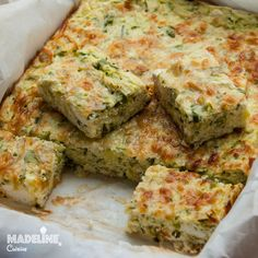 Budinca de dovlecei / Zucchini casserole - Madeline's Cuisine Vegetable Recipes, Vegetarian Recipes, Healthy Recipes, Baby Food Recipes, Cooking Recipes, Baking Bad, Avocado Salad Recipes, Good Food, Yummy Food