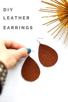 DIY LEATHER EARRINGS - Place Of My Taste