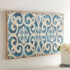 Wonderful Tile Wall Art On Set Of Ceramic Tiles Bathroom Decorative Outdoor New Tile Wall Art - Home Design and Wall Decoration Ideas Tuscan Style Homes, Mediterranean Style Homes, Tuscan House, Mediterranean Wall Decor, Tile Art, Wall Tiles, Decorative Objects, Decorative Boxes, Mediterranean Architecture