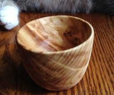 Easy Homemade Wooden Tea Cup Without A Lath.  Pretty but labour intensive.  Dremel tool strongly recommended.