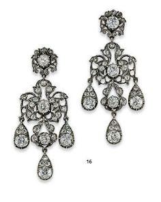 Diamond ear pendants by Asprey. Diamond ear pendants, circa by David Webb. Diamond Chandelier Earrings, Diamond Earing, Pendant Earrings, Diamond Pendant, Diamond Jewelry, Gold Earrings, Antique Rings, Antique Jewelry, Vintage Jewelry
