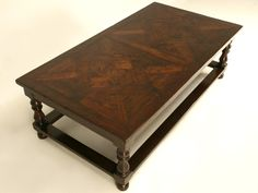 Custom Coffee Table with French Parquet Top