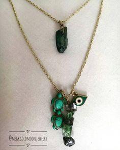 Blue Boho Necklace by GoldMoonJewelry on Etsy