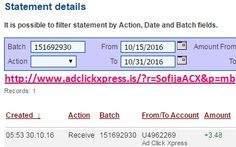 Here is my #83 Withdrawal Proof from Ad Click Xpress. I get paid daily and I can withdraw daily. Online income is possible with ACX, who is definitely paying - no scam here. I WORK FROM HOME less than 10 minutes and I manage to cover my LOW SALARY INCOME. If you are a PASSIVE INCOME SEEKER, then AdClickXpress (Ad Click Xpress) is the best ONLINE OPPORTUNITY for you. Join for FREE and get 20$ + 10$ + 5$ Monsoon, Ad and Media value packs from ACX.