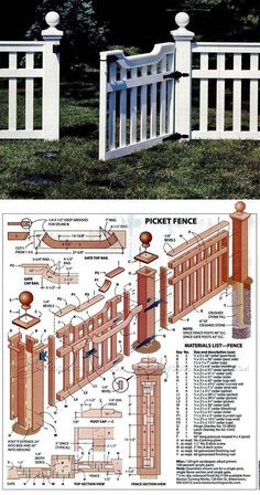 Build Picket Fence - Outdoor Plans and Projects | WoodArchivist.com