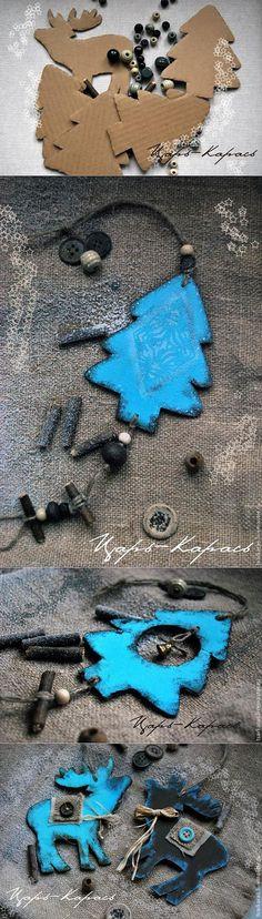МК Елочные украшения в Скандинавском стиле - Ярмарка Мастеров - ручная работа, handmade