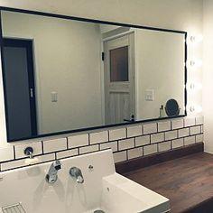 Bathroom/タイル/サンゲツ/裸電球/リクシル/ピアラ...などのインテリア実例 - 2016-11-17 04:56:53