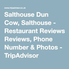 Salthouse Dun Cow, Salthouse - Restaurant Reviews, Phone Number & Photos - TripAdvisor