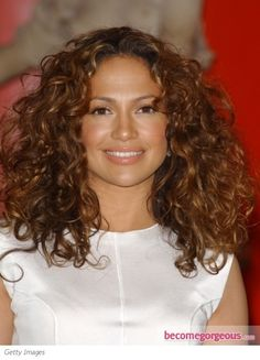 Jennifer Lopez Natural Curly Hairstyle... Probably not completely natural but I think I like the length
