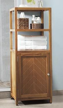 Made With The Same Attention To Detail As All Of Our Teak Bath Accessories Slim And Stylish Storage Tower Is Perfect Height Itâ S Built