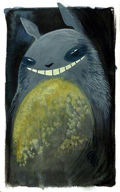 Natalie Hall's Totoro! I love it... haha seems so evil :P