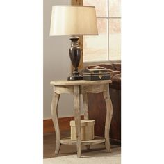 Alaterre Rustic Reclaimed Round End Table | Overstock.com Shopping - The Best Deals on Coffee, Sofa & End Tables