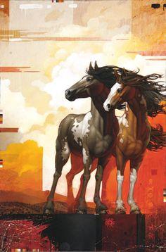 Craig Kosak Paintings - Wild Horses of Cerrillos