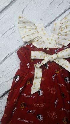 Toddler FSU Dress, Girls FSU Dress, UF, Alabama, Auburn, Georgia, Game Dress by Ava and Bash by AvaandBash on Etsy https://www.etsy.com/listing/242003056/toddler-fsu-dress-girls-fsu-dress-uf