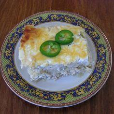 A lighter fresher version of Enchiladas Verde Casserole Southern Living Magazine recipe, recreated by Susana Basanty.