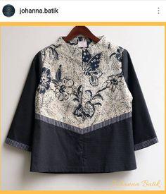 Batik Blazer, Blouse Batik, Batik Dress, Mode Batik, Batik Kebaya, Batik Pattern, Batik Fashion, Kurti Neck Designs, Art Textile