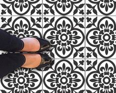 Bristol Kitchen Bathroom Backsplash Tile Wall Stair Floor | Etsy Tile Decals, Wall Tiles, Vinyl Decals, Peel And Stick Tile, Stick On Tiles, Flooring For Stairs, Stair Stickers, Bathroom Doors, Bathroom Vinyl
