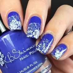 Breaking Blue from @kbshimmer used in this mani done by @margarita_onthe_rocks