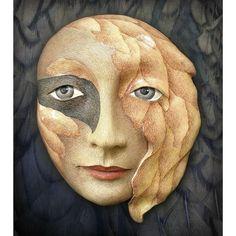 Becoming Birdgirl - Ceramic mask sculpture. $500.00, via Etsy.